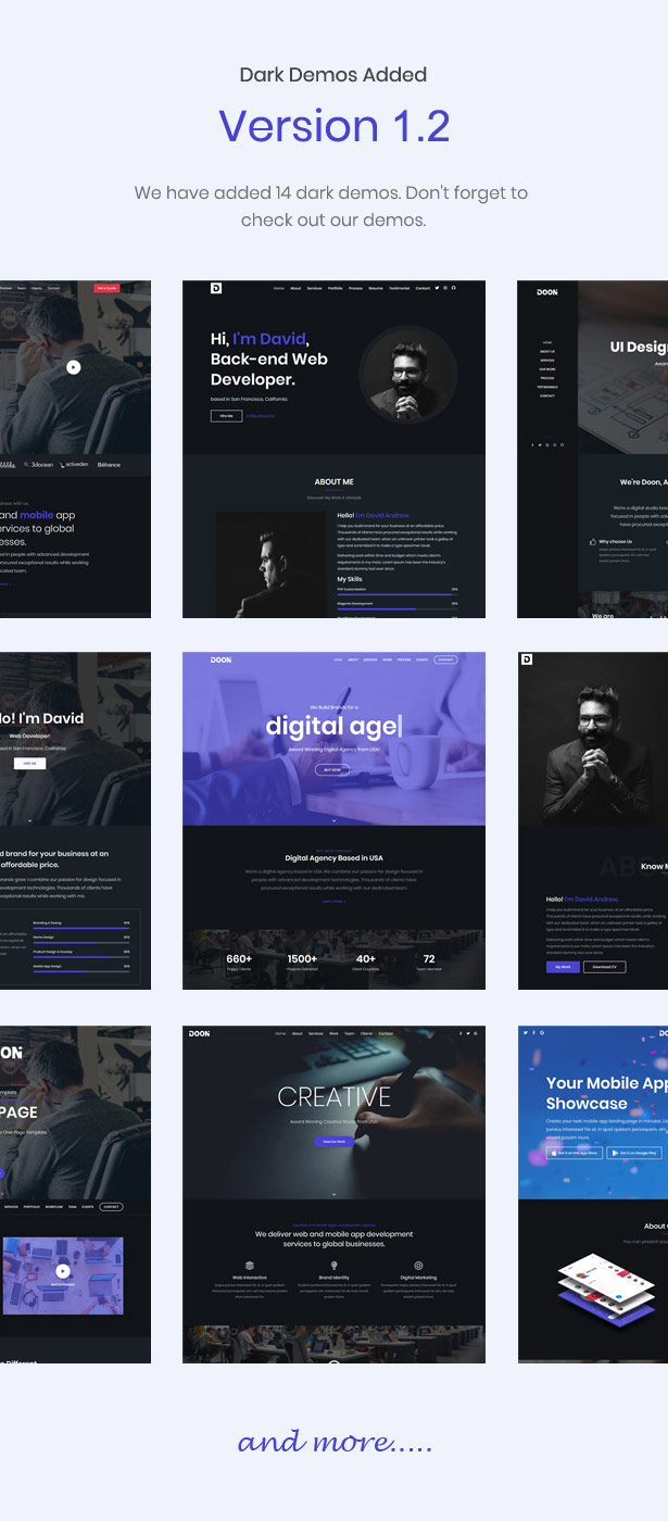 dark one-page template