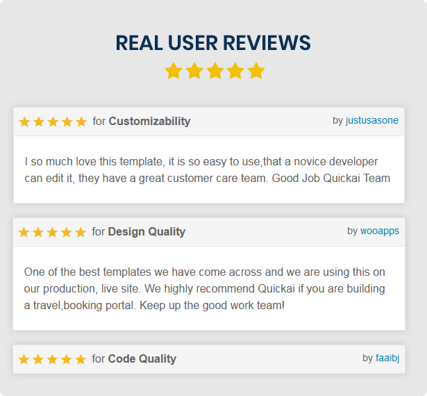 user review