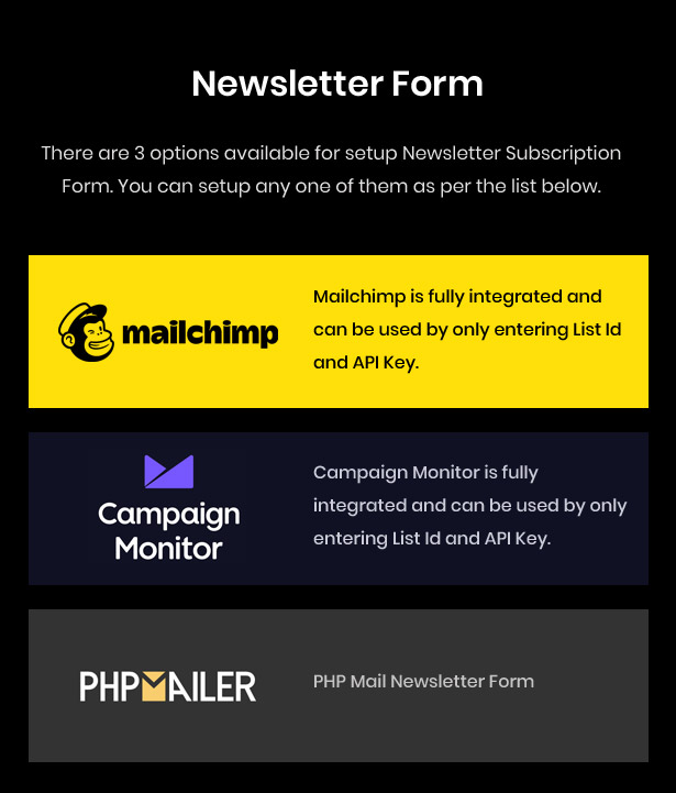 Mailchimp Newsletter Subscribe Form
