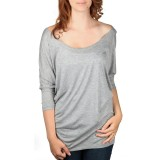 Dolman Top Women Heather Grey Front