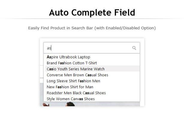 auto complete search